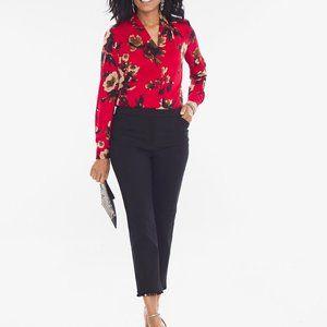 NEW CHICO'S Black Beaded Hem Slim Ankle Pants ~2P